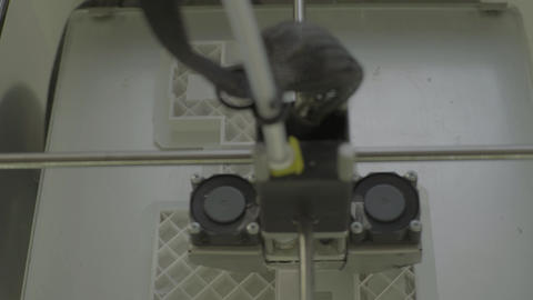 3D printer during printing close-up Stock Video Footage