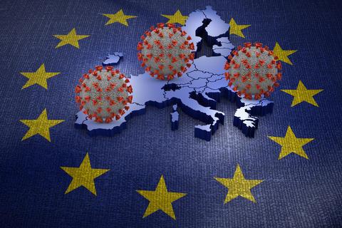 Coronavirus European Union map Photo