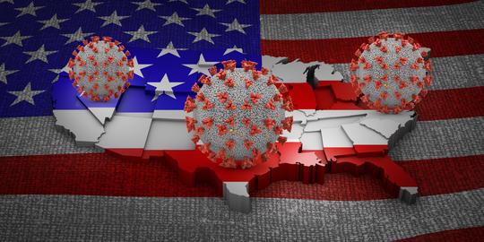 Coronavirus USA map Photo