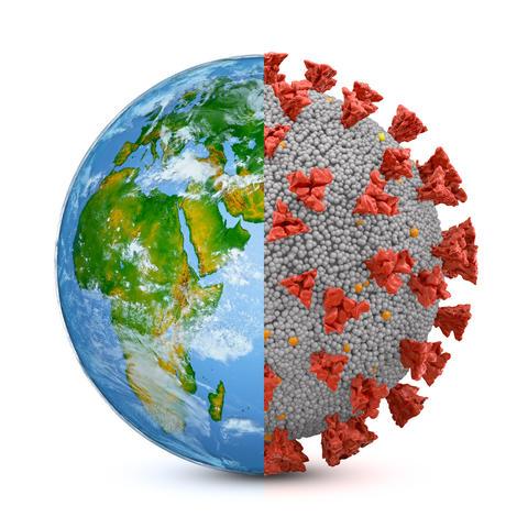 Symbiosis earth and coronavirus Photo