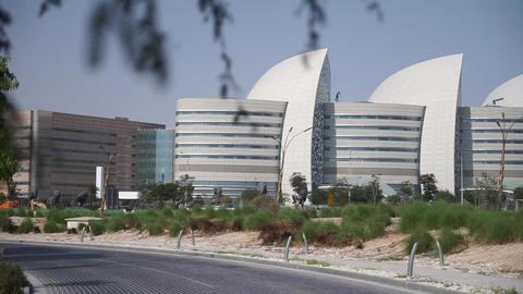 Doha, Qatar, January 03 2020 - View of Education city in Doha Qatar Live Action