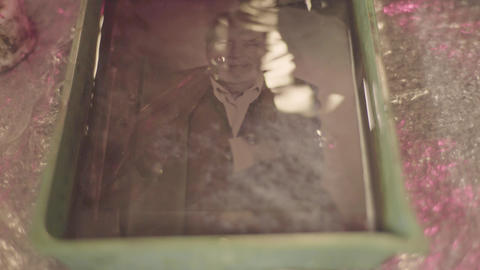 Ambrotype: Images on glass. Close-up Live Action