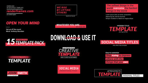 Social Media Titles Motion Graphics Template