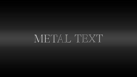 Metal Text After Effects Template