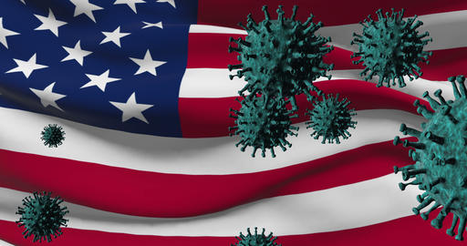 USA and global pandemic novel sickness - 3d animation Live Action