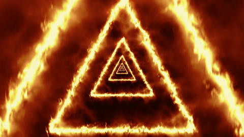 Triangles of Fire Tunnel VJ Loop Motion Background Animation
