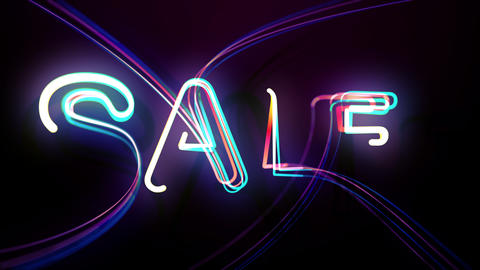 Special Deal Big Sales in Colourful Bright Animated Lines Live Action