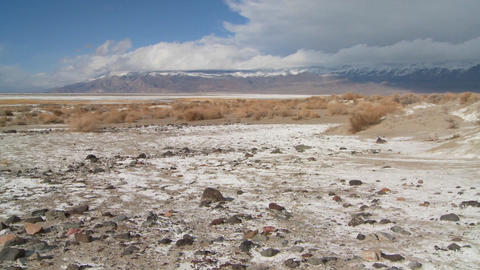 Time lapse of clouds over the Owens Valley dry lake bed Footage