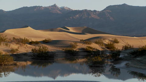 Time lapse over an oasis in Death Valley Footage