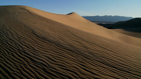 Desert dunes in Death Valley National Park Stock Video Footage