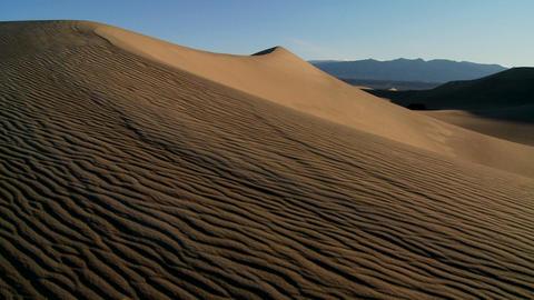 Desert dunes in Death Valley National Park Stock Video Footage
