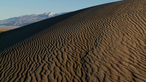 Rippled desert dunes in Death Valley Stock Video Footage
