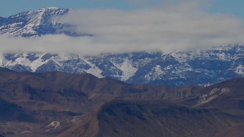 A slow move back on a time lapse of a beautiful mountain... Stock Video Footage