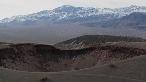 An amazing volcanic crater in Death Valley National Park Stock Video Footage