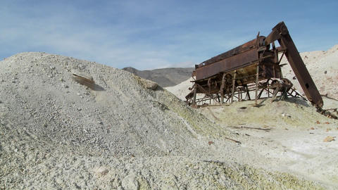 An abandoned sulfur mine in Death Valley Footage