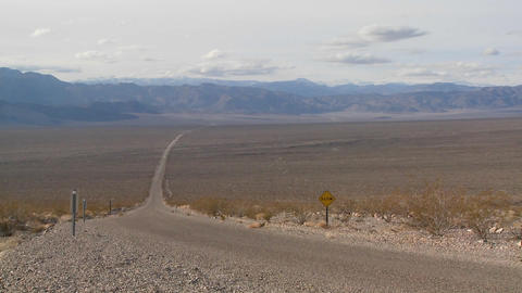 A lonely highway goes across the desert Stock Video Footage