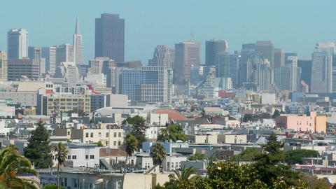 The skyline of San Francisco, California by day Stock Video Footage
