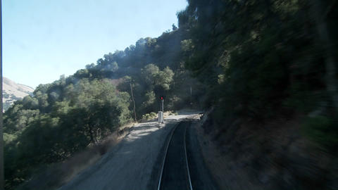 An exciting point of view shot from the front of a train... Stock Video Footage