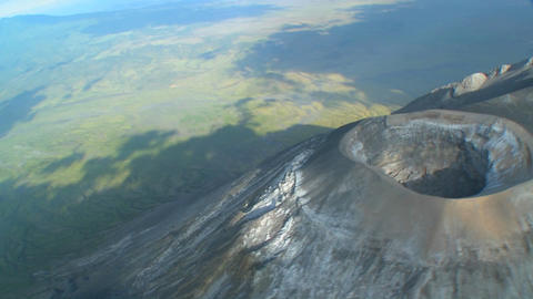 An aerial shot over the oldoinyo le ngai volcano in Tanzania Stock Video Footage