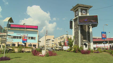 Arusha, Tanzania is one of Africa's fastest growing cities Stock Video Footage