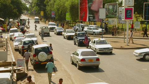 Arusha, Tanzania with vehicle traffic on the streets Stock Video Footage