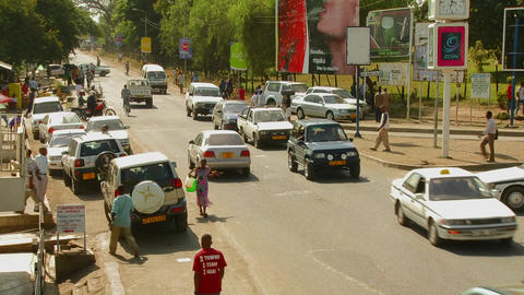 Arusha, Tanzania with vehicle traffic on the streets Footage