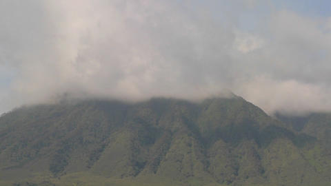 Dramatic timelapse shots of the Virunga volcanoes on the... Stock Video Footage