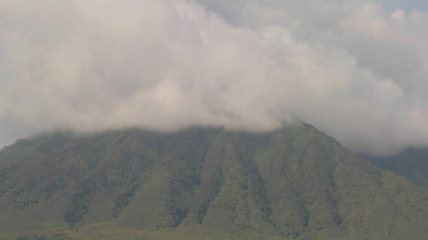 Dramatic timelapse shots of the Virunga volcanoes on the Rwanda Congo border Footage