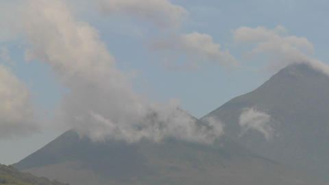 Time lapse footage of the Virunga volcanoes on the Rwanda Congo border Footage