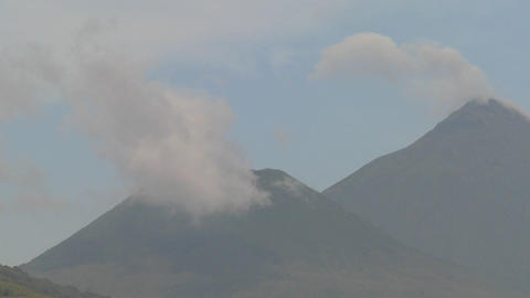Time lapse footage of the Virunga volcanoes on the Rwanda... Stock Video Footage