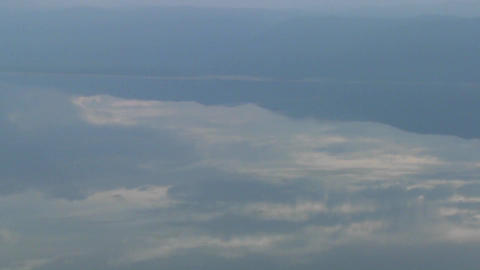 Aerial shots over Lake Manyara in Tanzania, Africa Stock Video Footage