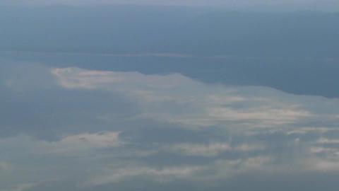 Aerial shots over Lake Manyara in Tanzania, Africa Stock Video Footage