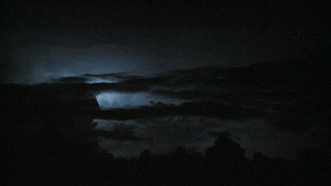 Spectacular lightning strikes in the night sky Stock Video Footage