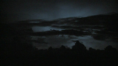 Spectacular lightning strikes in the night sky Footage
