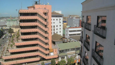 A view over modern Nairobi office buildings and offices Stock Video Footage