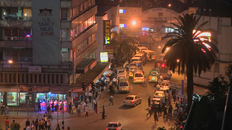 Night time in Nairobi, Kenya Stock Video Footage