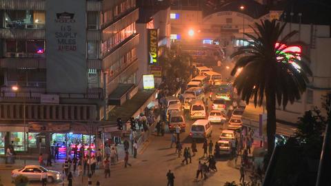 Night time in Nairobi, Kenya Footage