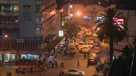 Night time in Nairobi, Kenya Stock Video Footage