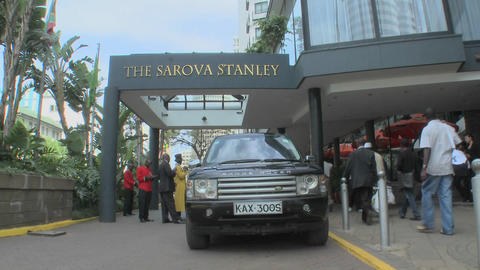 Exterior of the Sarova Stanley Hotel in downtown Nairobi,... Stock Video Footage