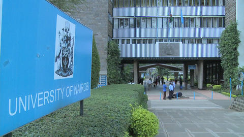 The University of Nairobi campus in Kenya Stock Video Footage