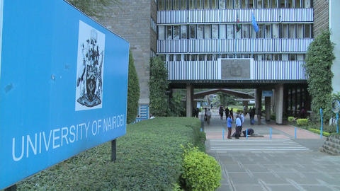 The University of Nairobi campus in Kenya Footage