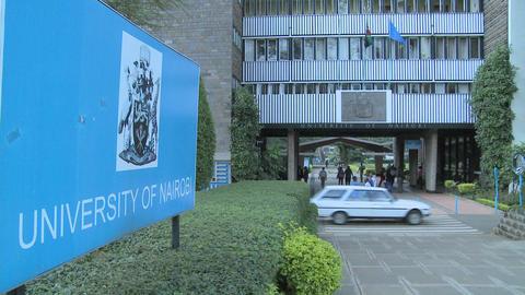 The University of Nairobi campus in Kenya Stock Video Footage