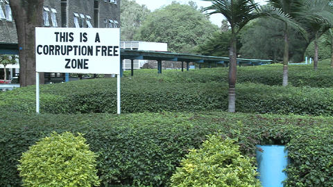 A sign at the University of Nairobia campus declared a... Stock Video Footage