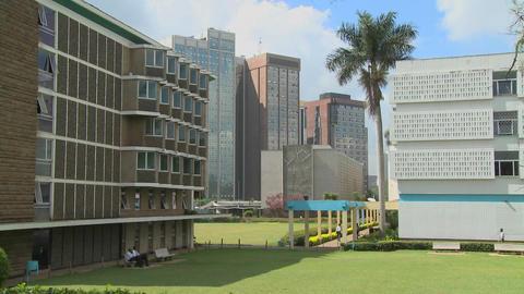 A nice establishing shot of the University of Nairobi in... Stock Video Footage