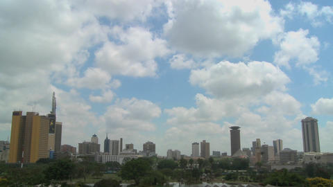 Beautiful time lapse shot of clouds moving over the city... Stock Video Footage