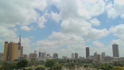 Beautiful time lapse shot of clouds moving over the city of Nairobi, Kenya Footage