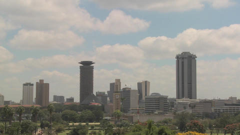 Nice time lapse shot of clouds over the city of Nairobi,... Stock Video Footage