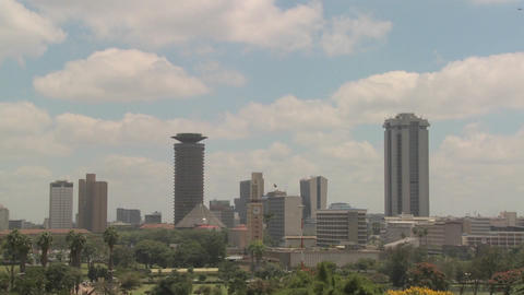 Nice time lapse shot of clouds over the city of Nairobi, Kenya Footage