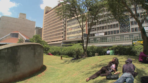 A memorial site in nairobi honors the terrorist bombings... Stock Video Footage
