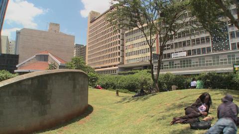 A memorial site in nairobi honors the terrorist bombings... Stock Video Footage
